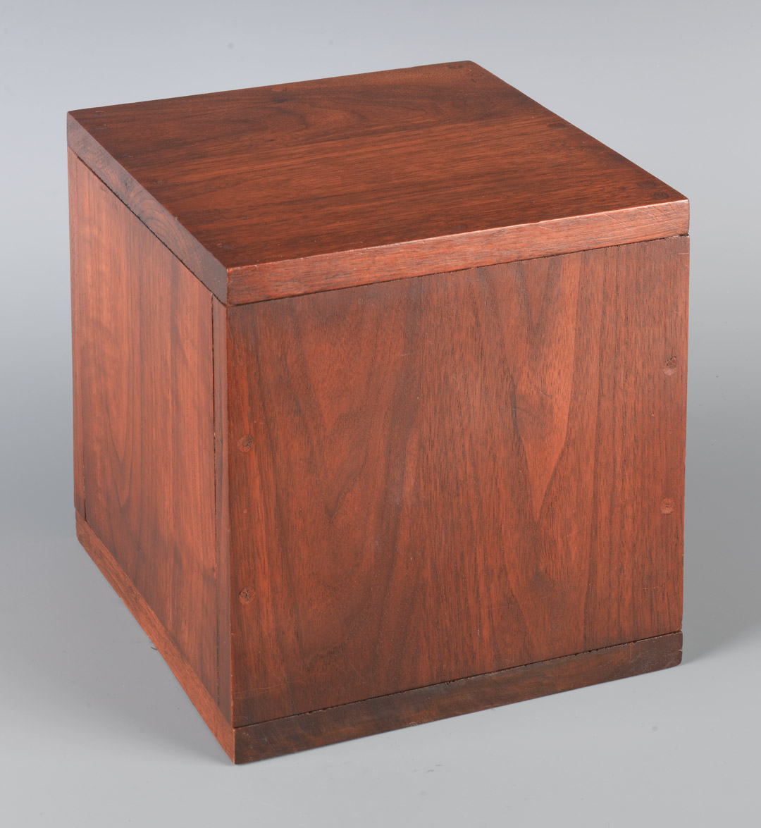 Box with the Sound of Its Own Making, 1961, Robert Morris, Wood, internal speaker, Wooden Cube: 9 3/4 x 9 3/4 x 9 3/4 in. (24.8 x 24.8 x 24.8cm) Overall: 46 x 9 3/4 x 9 3/4in. (116.8 x 24.8 x 24.8cm); TRT 3.5 hours, Gift of the Virginia and Bagley Wright Collection, 82.190, © 2007 Robert Morris / Artists Rights Society (ARS), New York.